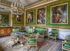 Versailles, Room Decorated in the Empire Style. Jacob Desmalter Seating. Paris ca.1815