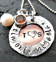 Hand Stamped Jewelry  Personalized Necklace  by yourcharmedlife, $55.00