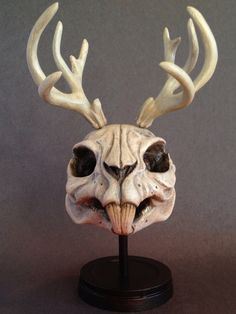 Jackalope Resin Skull Limited Edition Collectible by Macsorro, $35.00 (would prefer smooth surface)