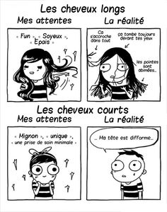 55 Trendy Ideas For Funny Comics Memes Sarah Andersen Girls Problems, Short Hair Problems, Women Problems, Sarah Anderson Comics, Sarah's Scribbles, Haha, Funny Quotes, Funny Memes, Jokes