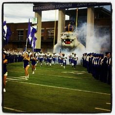 The #JMUDukes take the field in their second game of the 2012 season.