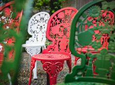 Industry & Rock and Roll- seletti garden collection - iron chair