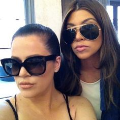 43bc69ac625 Khloe and Kourtney Kardashian Wearing Celine CL41805 S NEW AUDREY and  Celine CL41490 S