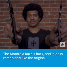 The Motorola Razr is back! [Video] (With videos) Cool Tech Gadgets, Recent News, Digital Trends, New Technology, Nostalgia, Science, Photo And Video, Hands, Future