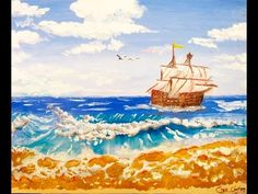 Praia #oilpainting Speed Painting