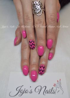 CND Brisa Lite Sculpting Gel overlays with Shellac and hand painted nail art - By Jo Wickens @ a Jojo's Nails - www.jojosnails.com