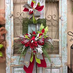 Excited to share this item from my shop: Christmas Wreath, Christmas Door Decor, Holiday Wreath Christmas Swags, Christmas Door Decorations, Holiday Wreaths, Christmas Holidays, White Christmas, Christmas Ideas, Winter Wreaths, Rustic Christmas, Holiday Ideas