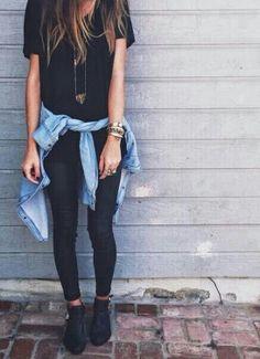 Ideas For Moda Casual Outfits Simple Leggings Look Fashion, Fashion Outfits, Womens Fashion, Fashion Trends, Fashion Clothes, Teen Fashion, Fashion Black, Fall Fashion, Fall Clothes