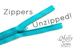 Zippers Unzipped- How to Sew a Zipper - Melly Sews