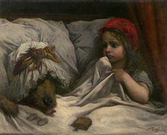 Gustave Doré, Le petit chaperon rouge, huile sur toile, 65x82cm, 1862, National Gallery of Victoria, Melbourne