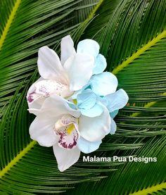 WEDDING HAIR FLOWERS Orchid flower clip Beach Wedding by MalamaPua
