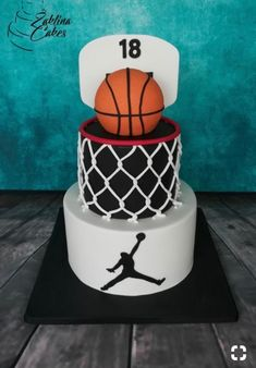 Got a sports lover? This basketball cake is so fun! Consider having your bakery . - Got a sports lover? This basketball cake is so fun! Consider having your bakery make a sports themed cake for your guy! Got a peanut butter and chocolate lover? Birthday Cakes For Men, Birthday Cupcakes, Sports Birthday Cakes, Birthday Cakes For Boys, Boy 16th Birthday, Birthday Gifts, Themed Birthday Cakes, Birthday Ideas, Happy Birthday