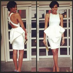 New Arrival White Cocktail Dresses 2015 Sexy Short Party Prom Gowns Formal Dress Peplum Dress from Bridallee,$94.25 | DHgate.com