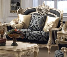 Formal Traditional Living Room Sets: Chic Formal Luxury Traditional Living Room Pc Sofa Loveseat Chair Set