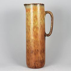 Carl-Harry Stålhane (SYQ 1960s) Striking Brown Pitcher Vase