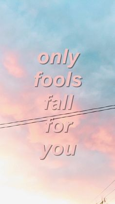 Only fools do what I do