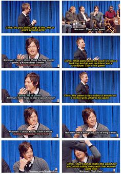Chris Hardwick (Talking Dead) & Norman Reedus - Daryl Dixon, The Walking Dead - read it through - no shit!