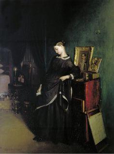 Павел Федотовパーヴェル・フェドートフ(1815ー1852)「Вдовушка(未亡人)」(1850年代?)