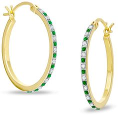 Zales Diamond Fascination and Peridot Fascination Hoop and Bangle Set in Sterling Silver with 18K Gold Plating p7zvpzOR