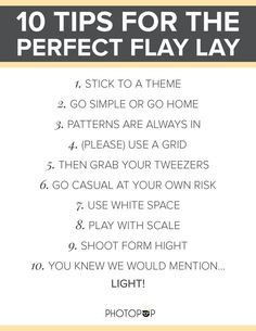 10 Tips For The Perfect Flat Lay — PhotoPop Flatlay Styling, Flat Lay, Simple, Tips, Pattern, Inspiration, Biblical Inspiration, Patterns, Model