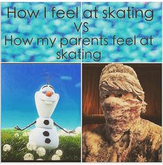 Funny figure skating- they always complain that it's cold! Ice Skating Funny, Figure Skating Funny, Ice Skating Quotes, Figure Skating Quotes, Figure Skating Dresses, Figure Ice Skates, Skate 3, Roller Skating, Roller Derby