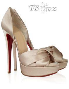 Graceful Golden  Upper Stiletto Heel Peep-toe Wedding Shoes