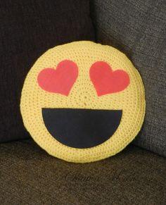 Emoji Crochet Pillow | FaveCrafts.com