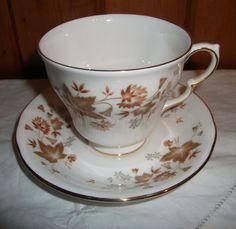COLCLOUGH  AVON  BONE CHINA TEA CUPS & SAUCERS
