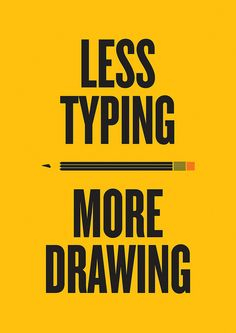 Less Typing More Drawing