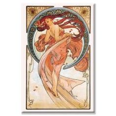 @Overstock - Hang this contemporary canvas art in any room in your home to create an instant focal point. Dance by the artist Alphonse Mucha features a beautiful, serene female figure in hues of pastel pink, peach, and red surrounded by an ethereal background.http://www.overstock.com/Home-Garden/Alphonse-Mucha-Dance-Rose-Canvas-Art/5925032/product.html?CID=214117 $76.99