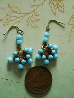 SOLD Fabulous antique doll earrings. Now available in my Rubylane store: Kim's Doll Gems