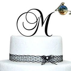Buythrow Personalized Acrylic Wedding Initial Cake Topper in any letter A B C D E F G H I J K L M N O P Q R S T U V W X Y Z Silver -- Details can be found by clicking on the image.(This is an Amazon affiliate link)