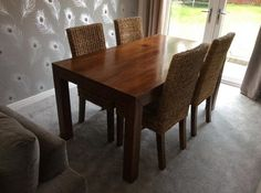Solid mango wood dining table with glisten finishing | Home Interiors