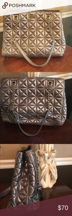 Silver / Grey Kate Spade bag!! Large shoulder bag Silver / Grey Kate Spade bag!! Large shoulder bag.  Great condition kate spade Bags Shoulder Bags