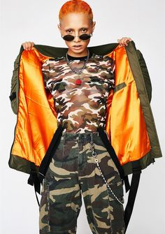79d0500d5c Poster Grl Takin  Off Bomber Jacket will take ya to new heights. This olive
