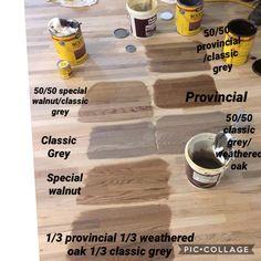 Minwax stain combinations on white oak flooring. We chose weathered oak/classic grey combination. Hardwood Floor Stain Colors, Minwax Stain Colors, Oak Wood Stain, Oak Hardwood Flooring, White Oak Floors, White Oak Wood, Weathered Oak Minwax, Weathered Grey Stain, Oak Floor Stains