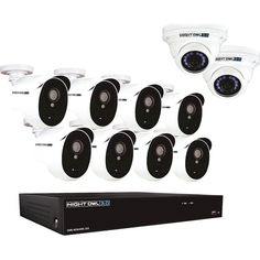 Night Owl - 16-Channel 10-Cameras Indoor/Outdoor Wired 3MP 2TB DVR Security System