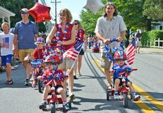 St. Michaels 4th of July Parade In Pictures-Rob forloney and family