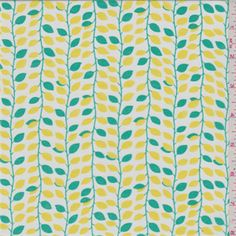 Yellow/Green Vine Lawn - 30417 - Fabric By The Yard At Discount Prices | $4.95/yard