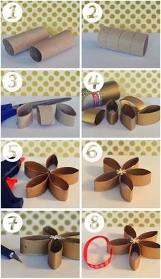 20 DIY Toilet Paper Roll Crafts For Adults, Kids, Toddlers, Valentines Toilet Roll Craft, Toilet Paper Roll Art, Rolled Paper Art, Toilet Paper Roll Crafts, Diy Home Crafts, Crafts For Kids, Diy Flowers, Paper Flowers, Christmas Crafts