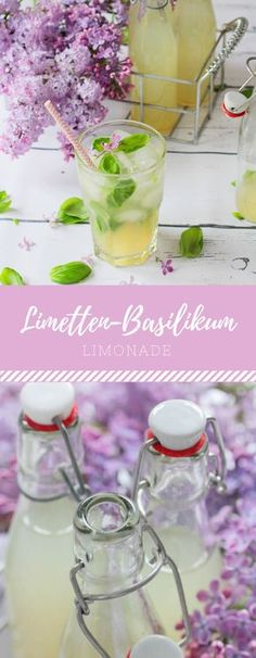 Limetten-Basilikum-Limonade Delicious recipe for lime and basil lemonade to make your own! Flavored Lemonade, Homemade Lemonade Recipes, Strawberry Basil Lemonade, Blueberry Lemonade, Refreshing Summer Drinks, Summertime Drinks, Summer Cocktails, Lemonade Cocktail, Cocktail Drinks