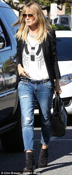 heidi klum + jeans