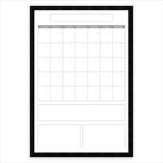 Featuring a black satin frame that's perfectly stylish for any décor, the Mezzanotte White Big Dry-Erase Calendar is a both practical and attractive addition to your home or office. Offers plenty of room to help plan and organize your life. Dry Erase Calendar, Calendar Organization, Planning And Organizing, Organize Your Life, How To Plan, Black Satin, Frame, Big, Stylish