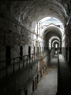 Cell Block 4 at Eastern State Penitentiary in Philadelphia, PA