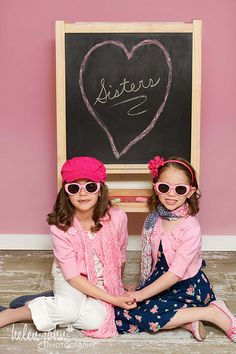 cute picture idea for lil' sisters...wish my sister and I had done this when we were little