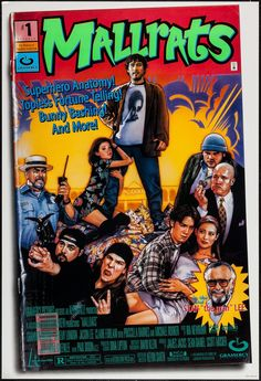 "Mallrats (1995) Double Sided Movie Poster 27"" x 40"" $150.00 • #MoviePosterDirect #KevinSmith #MoviePoster #IndependentFilm #Comedy #90s #Indie #IndiFilm #MichaelRooker #JasonLee #StanLee"