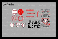 Baseball Bundle SCG DXF EPS PNG from DesignBundles.net