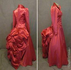 Brielle's Costume's lovely version of Irene Adler's pink dress!