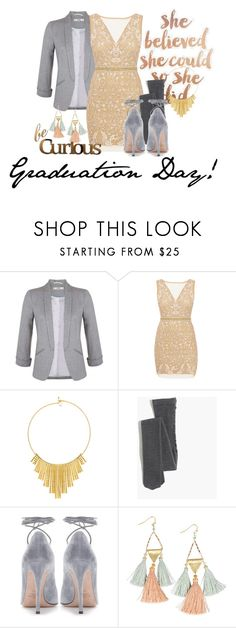"""someone give me a job"" by suchajocundcompany ❤ liked on Polyvore featuring Miss Selfridge, Nicole Miller, BERRICLE, Madewell, Valentino, NAKAMOL, Letter2Word and Graduation"