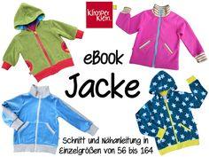eBook Jacke 56-164 Schnittmuster und Nähanleitung von Klimperklein auf DaWanda.com